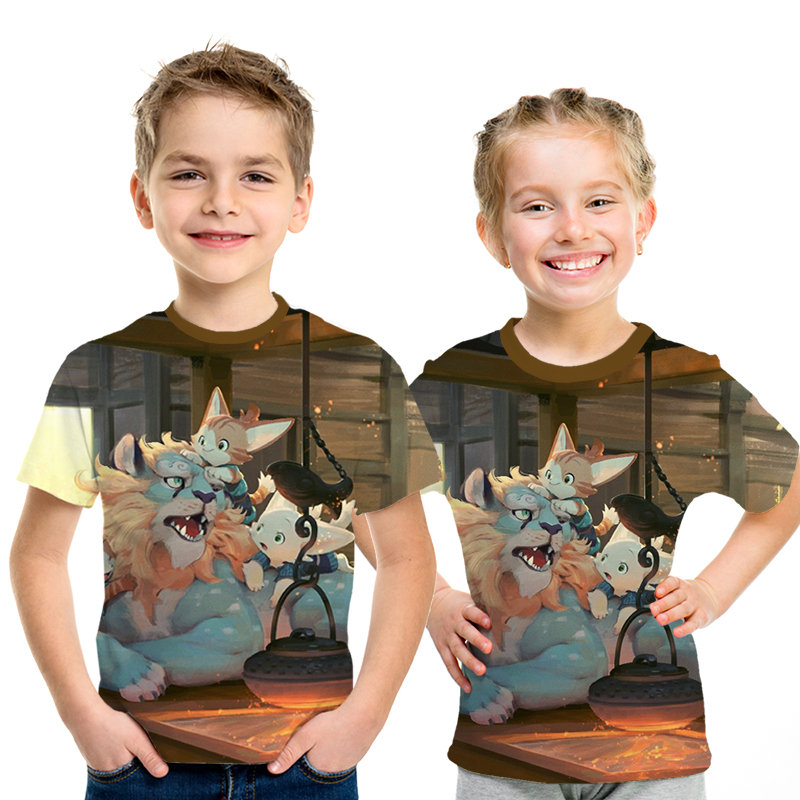 Kids T-Shirt Beautiful American Eagle 3D Printed Crew Neck Youth T Shirts Tee for Boys Girls Children