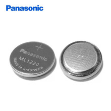 4pcs/lot Panasonic ML1220 3V ML 1220 Rechargeable CMOS RTC BIOS Back Up Battery Cell Button Coin Batteries