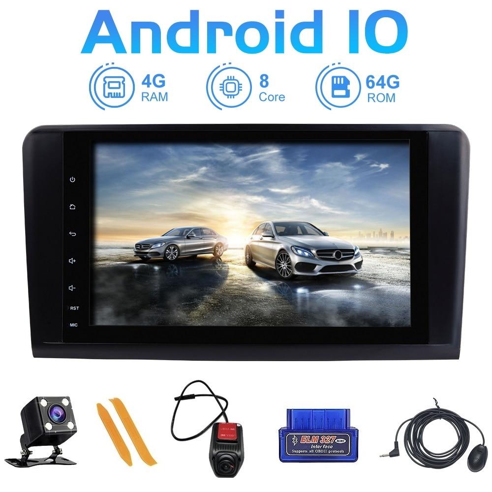 Reproductor Multimedia de Radio para coche ZLTOOPAI, navegación GPS Android 10 para mercedes-benz GL ML clase W164 X164, reproductor Multimedia para coche