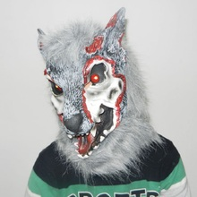 2019 Wolf Head Mask Halloween Props Simulation Lifelike Vivid Cover For Carnival Party Face Masks