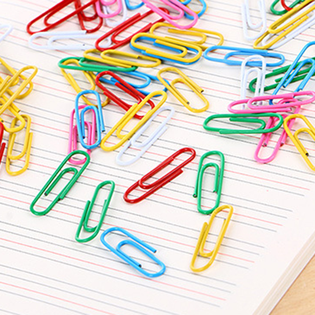 70pcs Colorful Metal Binder Clip Student Stationery Mixed Color Office Shool Stationery Marking Paper Clips