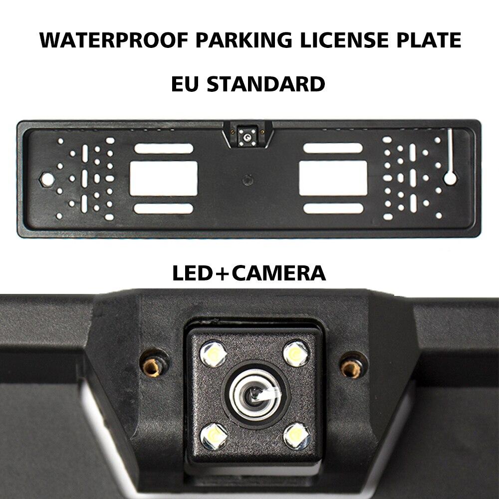 ยุโรปที่จอดรถอัตโนมัติหมายเลขรถใบอนุญาตแผ่นกรอบหมายเลขสำหรับ JEEP Wrangler JK อุปกรณ์เสริม Ford Ranger VW POLO 6R...
