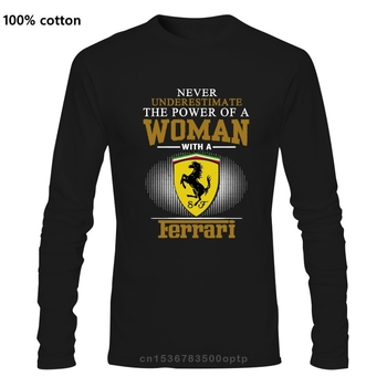 Ferrar Never Underestimate The Power Of A Woman With A Man's US shirt Top Gift image