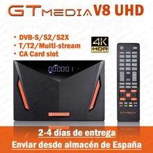 Лучший DVB-S2 GTmedia V8 UHD декодер h.265 4K Freesat V8 Super приемник GT Media V8 Nova V9 Super без приложения