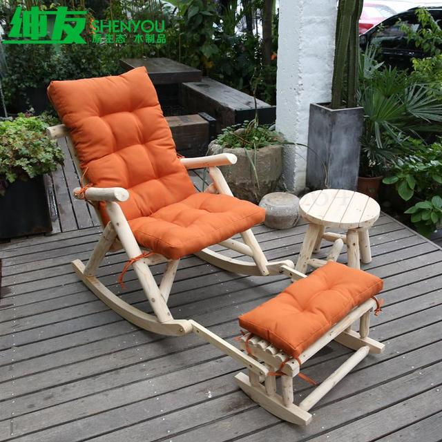 Solid Wood Rocking Chair  3