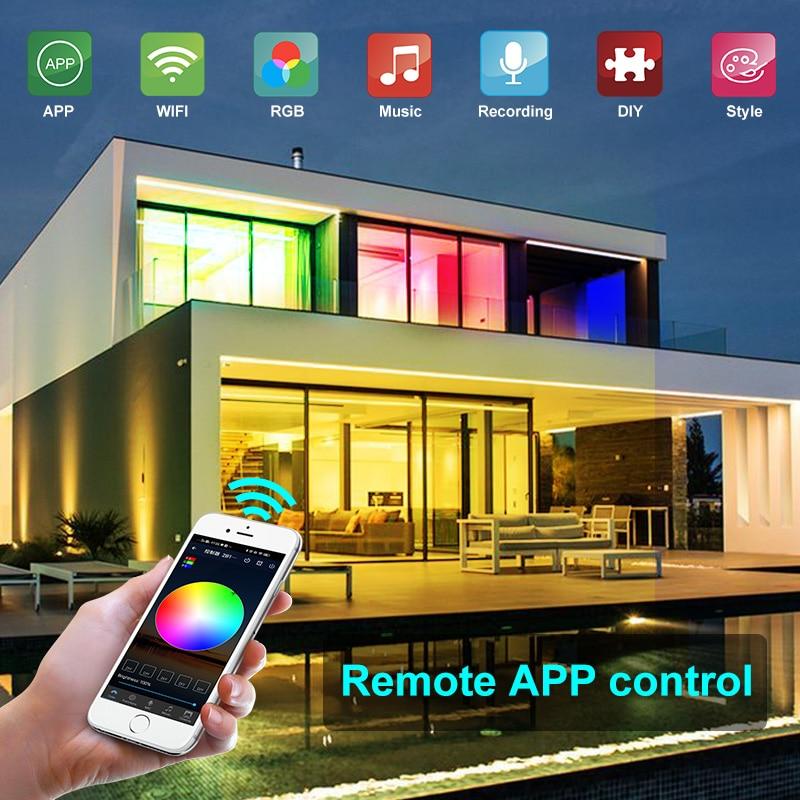 5M-30M LED Strip Lights Bluetooth WIFI RGB DC 12V LED 5050 SMD Ribbon diode tape Bluetooth WIFI Phone APP IR Controller power