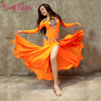2019 Luxury Oriental Dance Costumes for kids Children Bra+Skirt dancing performance Wears Set for Girls belly dance suit