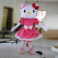 mascot costume cosplay for adult KT cat fancy mascot costume