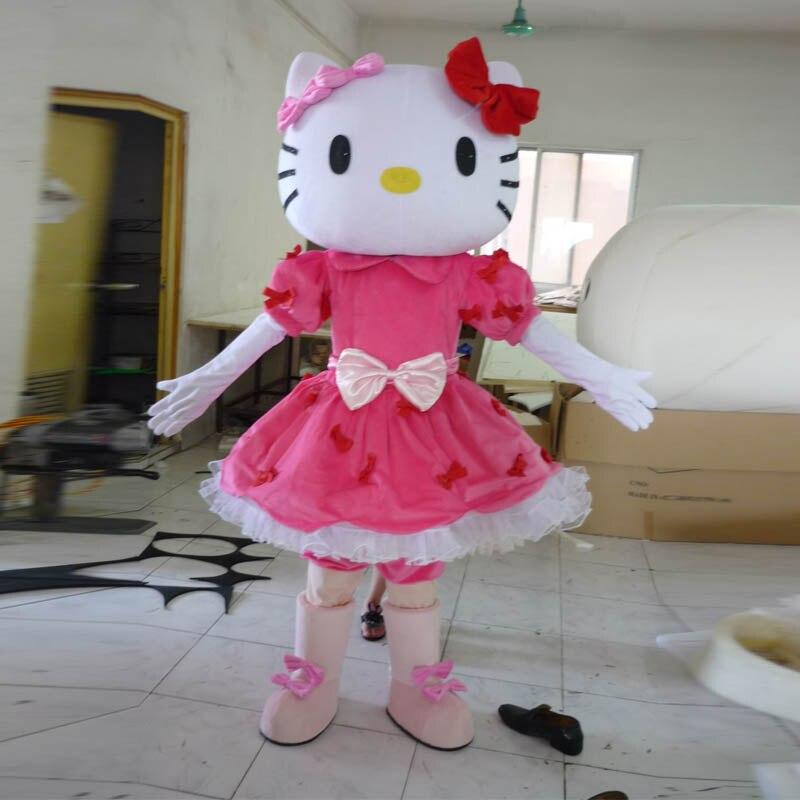 Costume de mascotte cosplay pour adulte KT chat costume de mascotte fantaisie