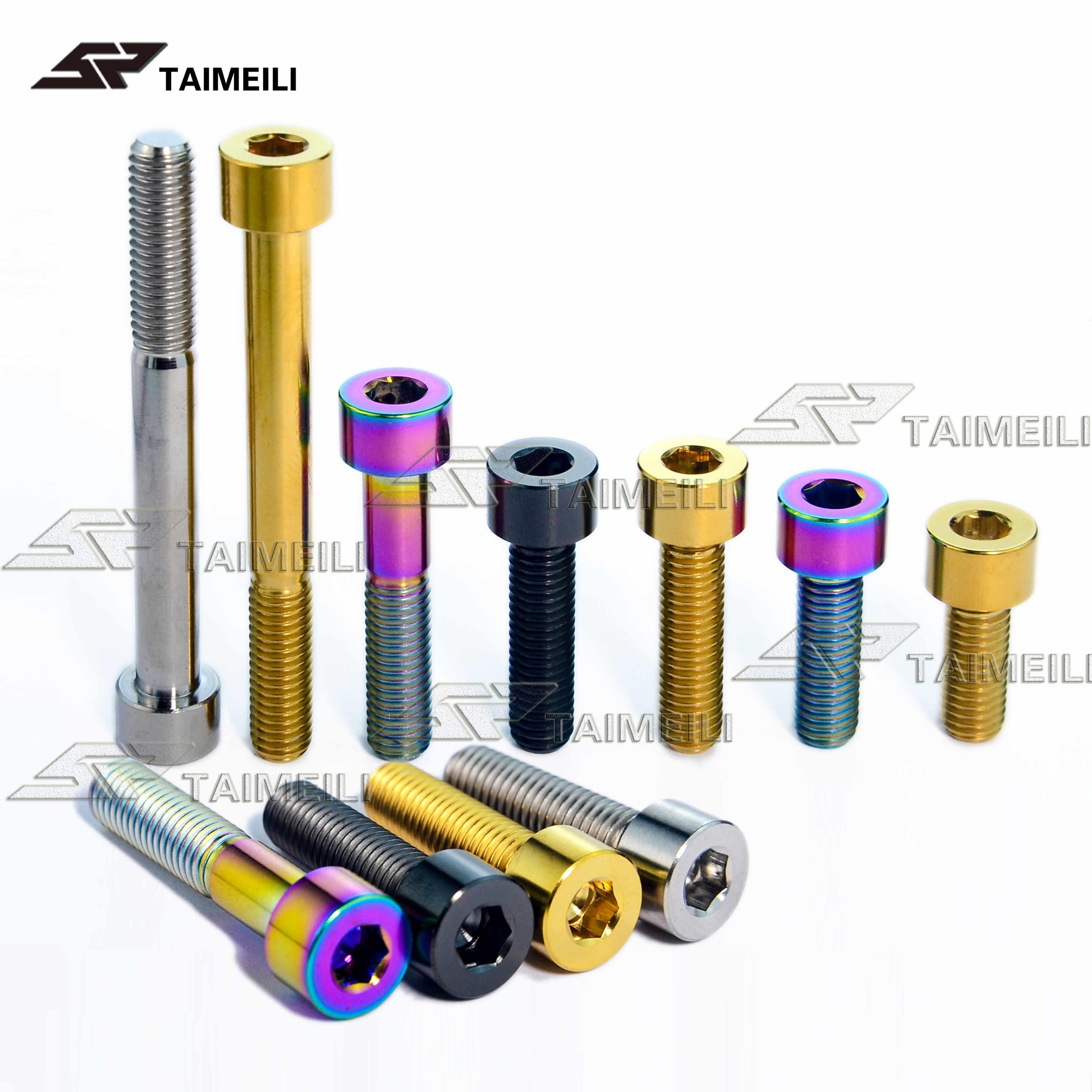 Titanium Ti  Bolt Screw M8x15 20 25 30 35 40 45 50mm Bike Parts Hex Fasteners