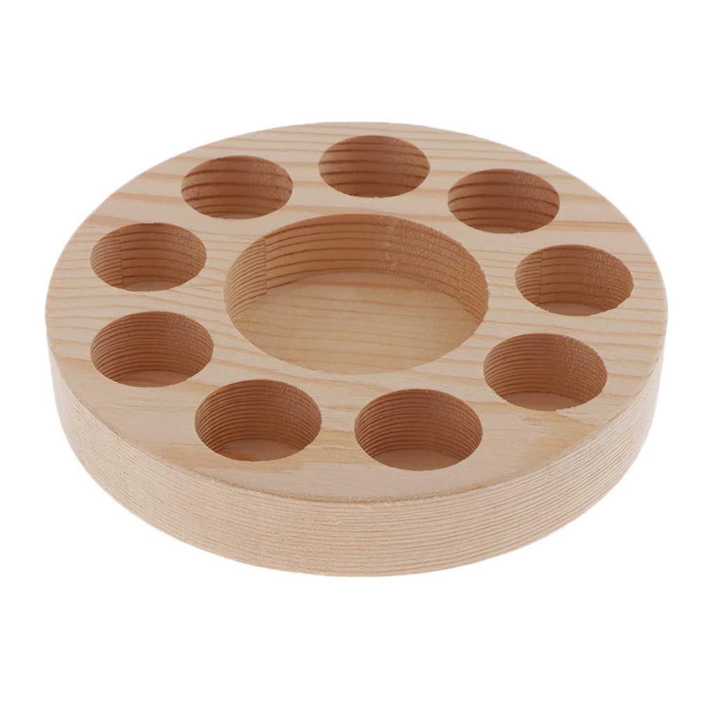 Drewniany wyświetlacz olejku wieszak stojący półka na organizery może pomieścić 10 butelek