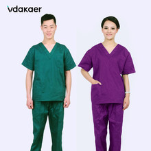 vdakaer Medical surgical clothes hand - washing clothes split suit doctors and nurses overalls brush hand clothing men and women(China)