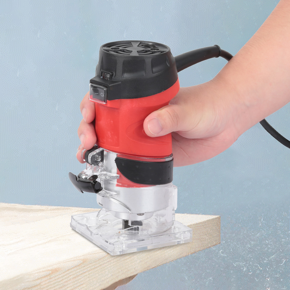 6 Speed 2200W Woodworking Electric Trimmer Wood Milling Engraving Slotting Trimming Machine Hand Carving Machine Wood Router