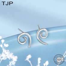 TJP S925 Sterling Silver Ear Ornaments Simple Personality Geometric Helix Earnails Female Student
