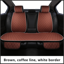AVTOKORONA Flax Car Seat Cover Protector Linen Front or Rear Seat Back Cushion Pad Mat Backrest for Auto Interior Truck Suv Van