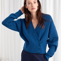 Plus Size High Quality Fall Winter 2019 New Fashion Sweater Women V Neck Full Sleeve Blue Cardigans Tops Casual Knitting Sweater