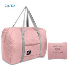 CAIDA + 2021 + Новинка + нейлон + складной + дорожные + сумки + унисекс + большой + емкость + сумка + багаж + женщины + водонепроницаемые + сумки + мужские + дорожные + сумки
