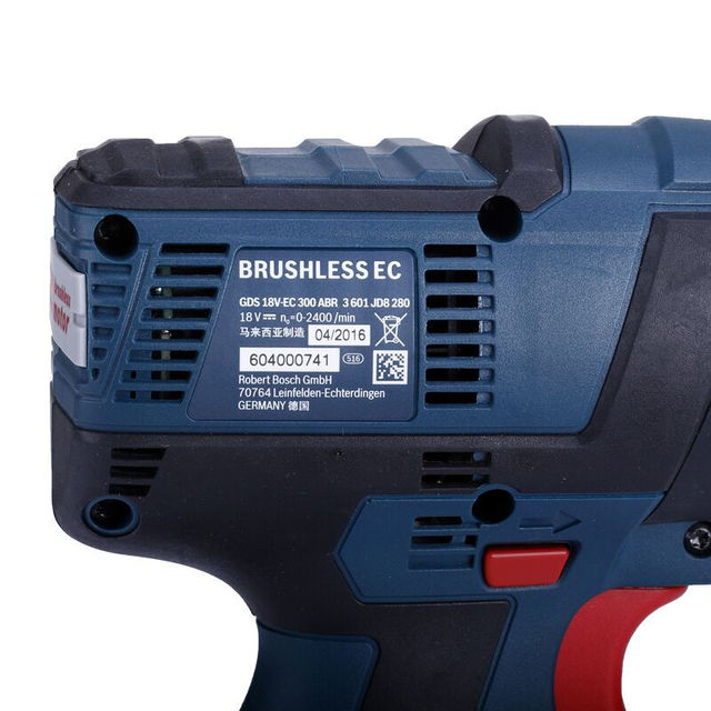 Bosch 18V Cordless Impact Wrench Lithium Battery Rechargeable Electric Wrench GDS 18V-EC 300 ABR 300N.m Brushless Impact Wrench 5
