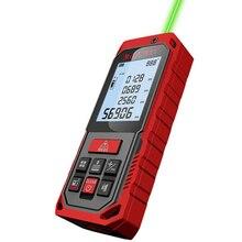 Handheld Laser Rangefinder Distance Meter Rechargeable Laser Measure Angle Laser Range Finder Red Green Measure 50M 70M 100M tools laser distance meter x6 50m 70m 100m distance measurer meter rangefinder power button device