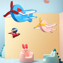 Blue/pink aircraft led chandelier For Kid room Childrens hanglamp Iron+acrylic Modern lighting light fixtures