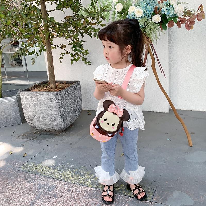 Disney Children's Bags 2021 New Multifunctional Shoulder Bag Cartoon Anime Girls Messenger Bag Baby Small Backpack
