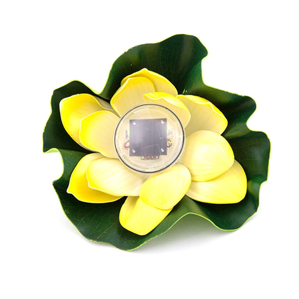 ICOCO Environmental Protection Waterproof Closed Ring Waterproof Pond Water Drift Lamp Solar Lotus Lamp Wish Lotus Leaf Lamp