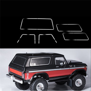 Image 2 - Metal Side Window Frame+Rear Window Frame+Front Window Frame For 1:10 TRAXXAS TRX 4 TRX4 Ford Bronco RC Car Parts
