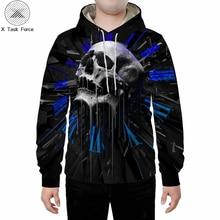 Skull and bones men's sweatshirt hoodie 3D printed fun hip hop novelty street wear hoodies