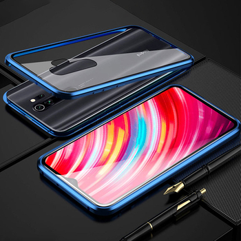 Magnetic Case For Xiaomi Redmi 8t Note 8 Pro 8a Tempered Glass Protect Back Cover Case For Red mi Note 8 Note8Pro 8Pro 8 t Cases