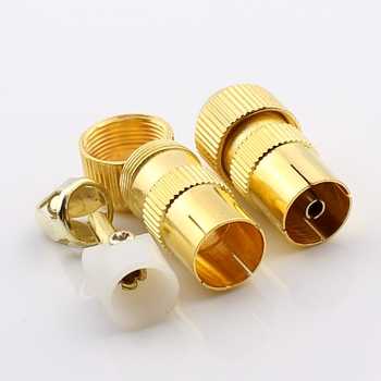 1pcs the new Cable plug and gilded bamboo, bamboo, rf connector 9.5 female image