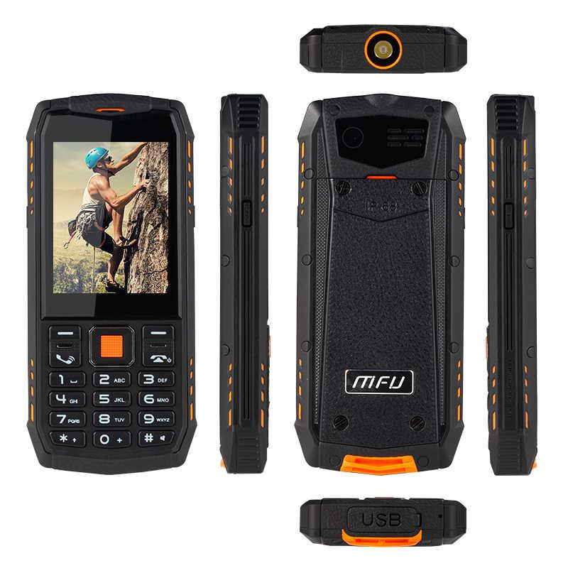 """MFU A903S 3g IP68 водонепроницаемый ударопрочный мобильный телефон 2,8 """"2700 мАч двойная камера Две sim-карты FM фонарик GPRS SOS сотовые телефоны"""