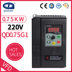 QD350 Frequency Converter 1P 220V Input 3P 220VOutput 0.75kw CNC Spindle Motor Speed Control