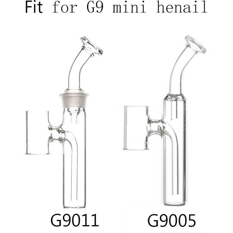 Glass Mouthpiece Water Bubble Filter Bong Replacement for G9 Mini Henail Wax Dab Pen Kit 1