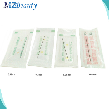 100pcs Disposable Sterilized Professional Tattoo Needles 1RL 0.18mm 0.3mm 0.35mm 0.4mm permanent makeup needles makeup agulha