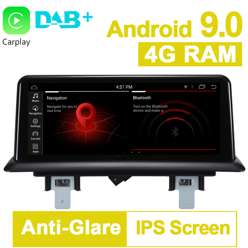 10.25 inch 4G RAM 32G ROM Android 9.0 System Car GPS Navigation Media Stereo Radio For BMW 1 Series 120i E81 E82 E87 E88 image