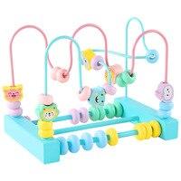 Macarons 2 Wire Bead stringing Toy Infants Boy Early Education ENLIGHTEN Wood Children Bead Rack Bao Yi Intellectual Toy