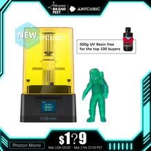 Stampante ANYCUBIC Photon Mono 3D stampanti in resina UV con schermo LCD monocromatico 2K da 6 pollici e velocità di stampa rapida 130x80x165mm