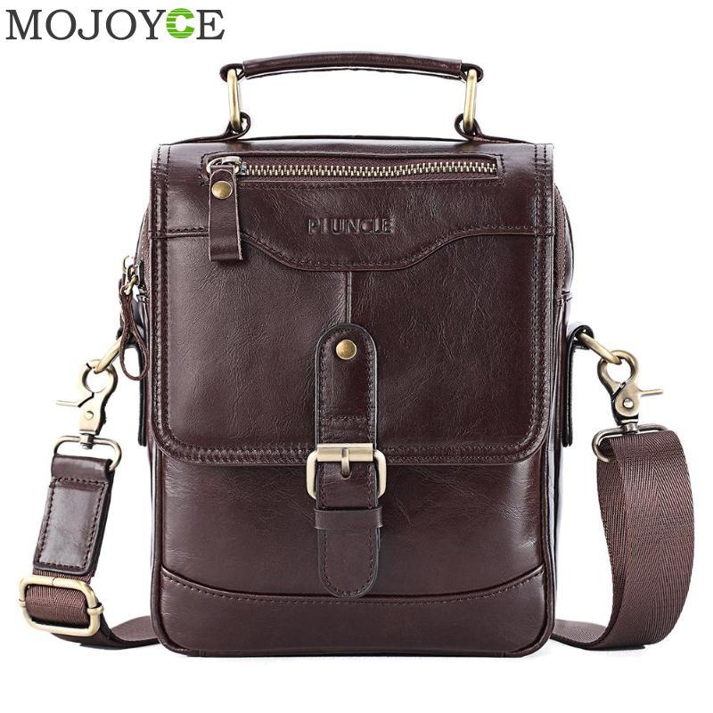 Genuine Leather Men Shoulder Messenger Bag Vintage Cowhide Handbags Fashion Business Crossbody Satchel Casual Phone Pouch