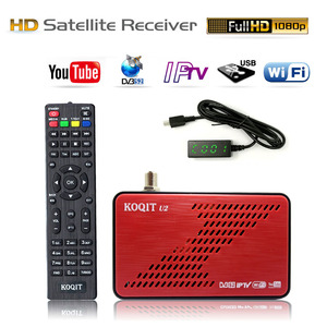 KOQIT U2 Mini Size Digital TV Box DVB-S2 Satellite Receiver DVB S2 Receptor TV Tuner m3u IPTV Ethernet Wifi Youtube Cline vuBiss(China)