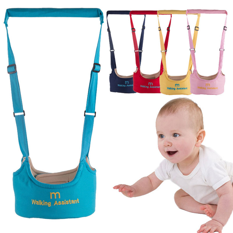 BELTED Walker Toddler Baby Children's Cotton with Traction-Belt Protect Safety Dual-Use