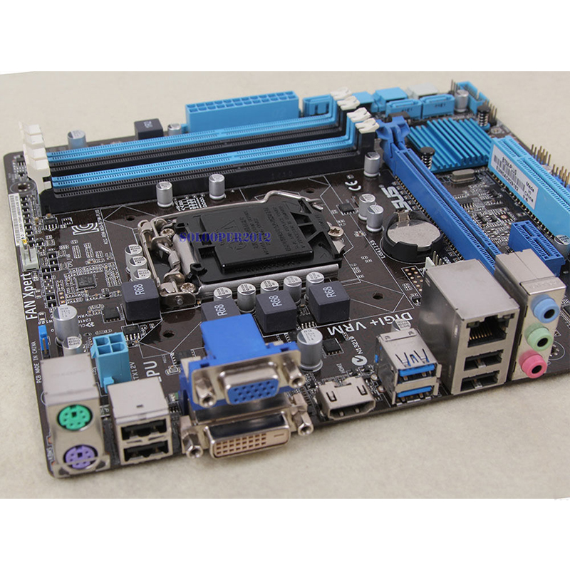 For ASUS B75M-PLUS Desktop motherboard MB B75 LGA 1155 micro ATX DDR3 32GB SATA3.0 USB3.0 100% fully Tested Free shipping 2