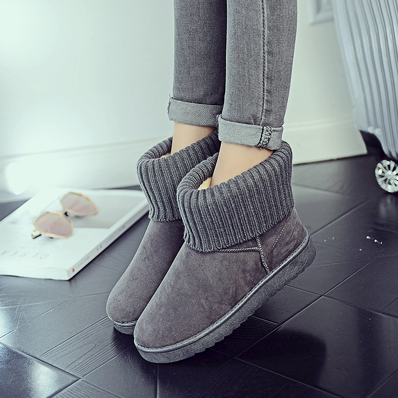 Women's new snow boots winter fashion wild classic women's shoes simple warm non-slip waterproof wool shoes ladies ankle boots 79