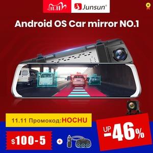 """Image 1 - Junsun A930 ADAS 4G 10 """"IPS araba dvrı kamera ayna çizgi kam Video kaydedici Full HD 1920x1080 arka dikiz aynası Android işletim sistemi WiFi GPS"""