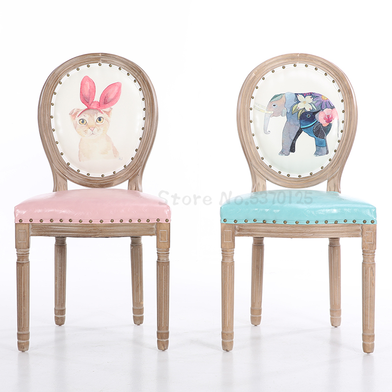 Nail Chair Modern Minimalist Family Stool Back Retro Restaurant Fashion European-style Nordic Solid Wood Dining Chair
