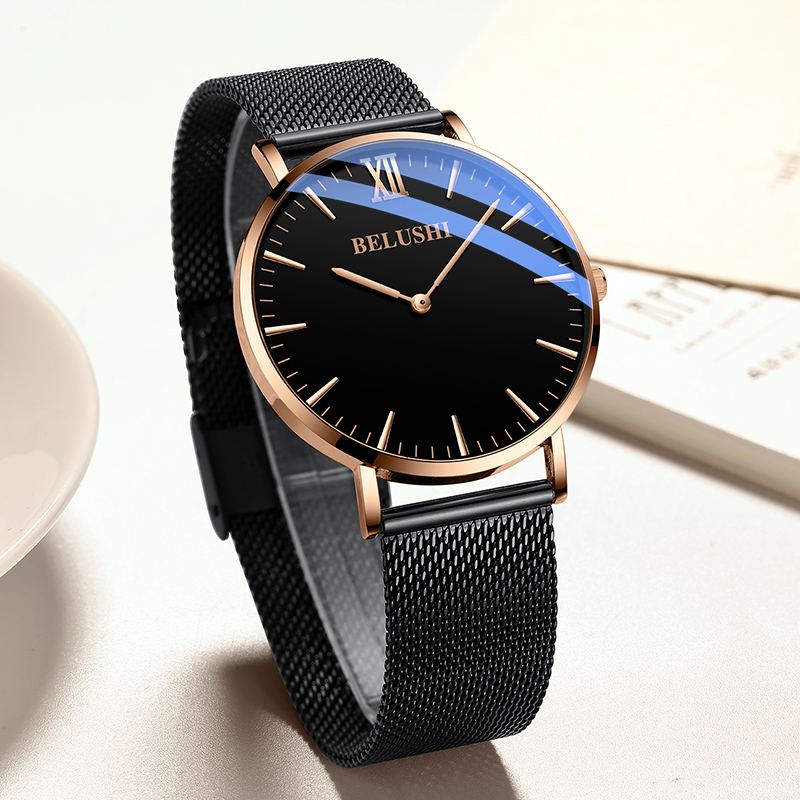 Waterproof 30M Fashion Simple Men Watch Top Brand Luxury Business Stainless Steel Watch Sport relogio erkek kol saati in Quartz Watches from Watches