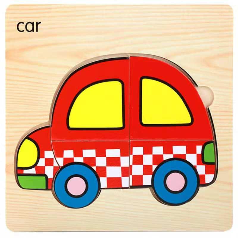 3D деревянные головоломки, игрушки для детей, Деревянные 3d Мультяшные головоломки с животными, интеллектуальные детские развивающие игрушки для детей - Цвет: Темно-серый