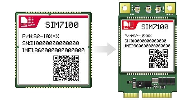 SIMcom SIM7100A MINIPCIE LTE Module 4G Module, 100% Brand New Original