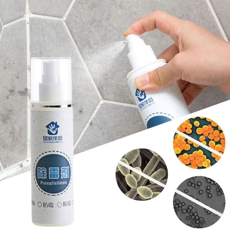 100ml Rapid Mold Removal Spray Bathroom Wall Cleaner Household Cleaning Out Stains Remover Bathroom Wall Tiles Quickly Remove