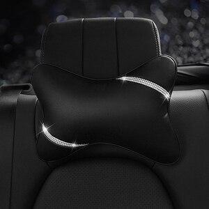 Image 5 - Автомобильная подушка для сиденья, защита для шеи, Кристальный Автомобильный подголовник, поддержка отдыха, путешествия, чехол для колеса автомобиля, подголовник, подушка для шеи на талии