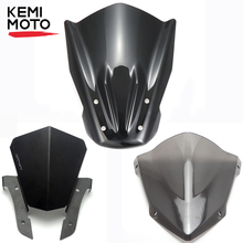 Motorcycle Windshield Windscreen with Mounting Bracket For YAMAHA MT07 MT 07 2014 2015 2016 2017 FZ-07 FZ07 FZ 07 Wind Deflector abs motorcycle windscreen windshield cover for 2016 2017 2018 bmw g310r g 310r 310 r wind shield deflector with mounting bracket